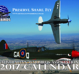 2017 calendar from Australian Warbirds Association